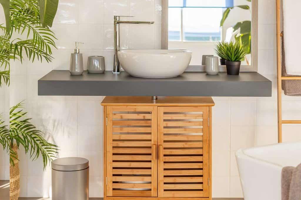muebles de bambu para el baño